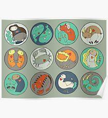 Zodiac Pattern Poster