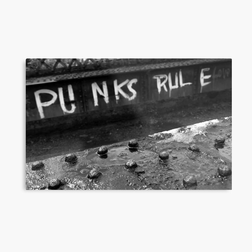 Punks Rule Metal Print