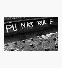 Punks Rule Photographic Print
