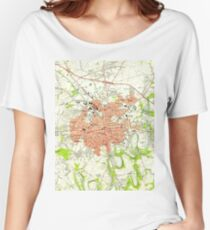 Vintage Map of Lancaster Pennsylvania (1956)  Women's Relaxed Fit T-Shirt