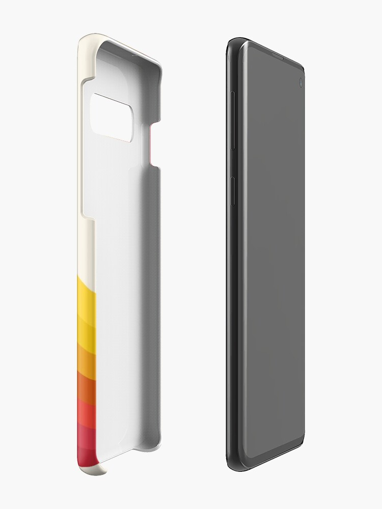Alternate view of 4-Sho - retro 70s style throwback vibes 1970's trendy decor art minimalist rainbow stripes Case & Skin for Samsung Galaxy