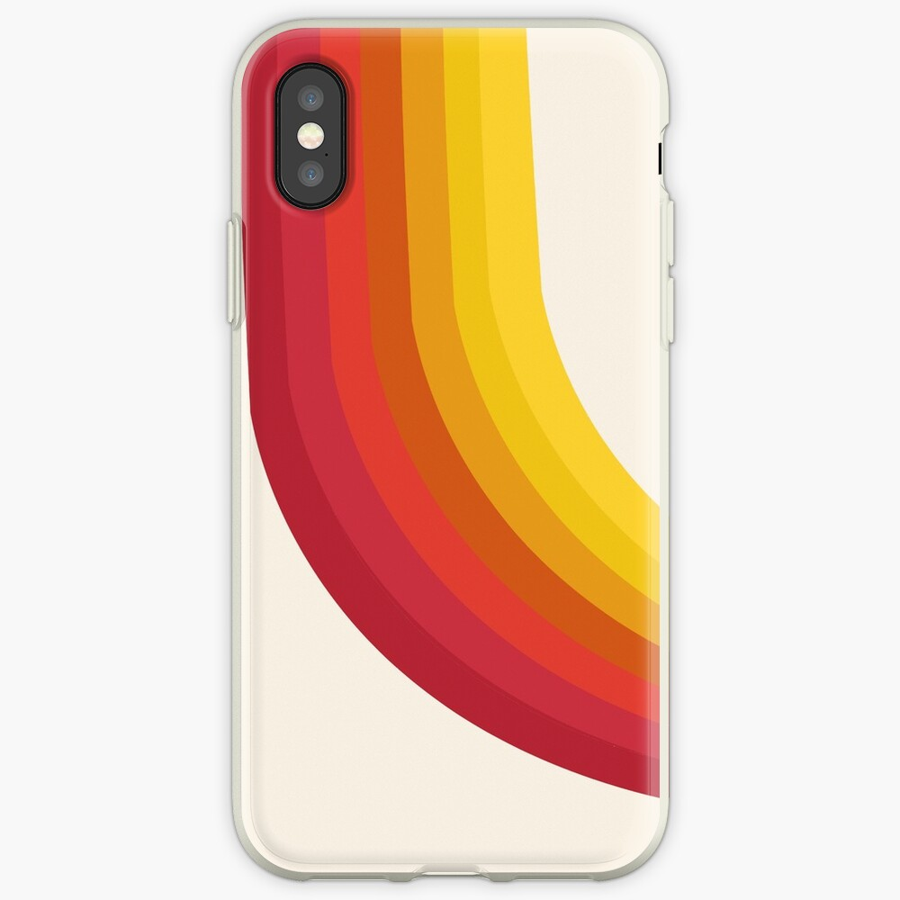 4-Sho - retro 70s style throwback vibes 1970's trendy decor art minimalist rainbow stripes iPhone Case & Cover