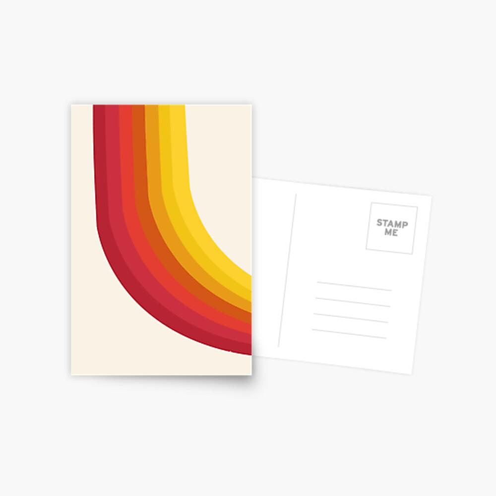 4-Sho - retro 70s style throwback vibes 1970's trendy decor art minimalist rainbow stripes Postcard