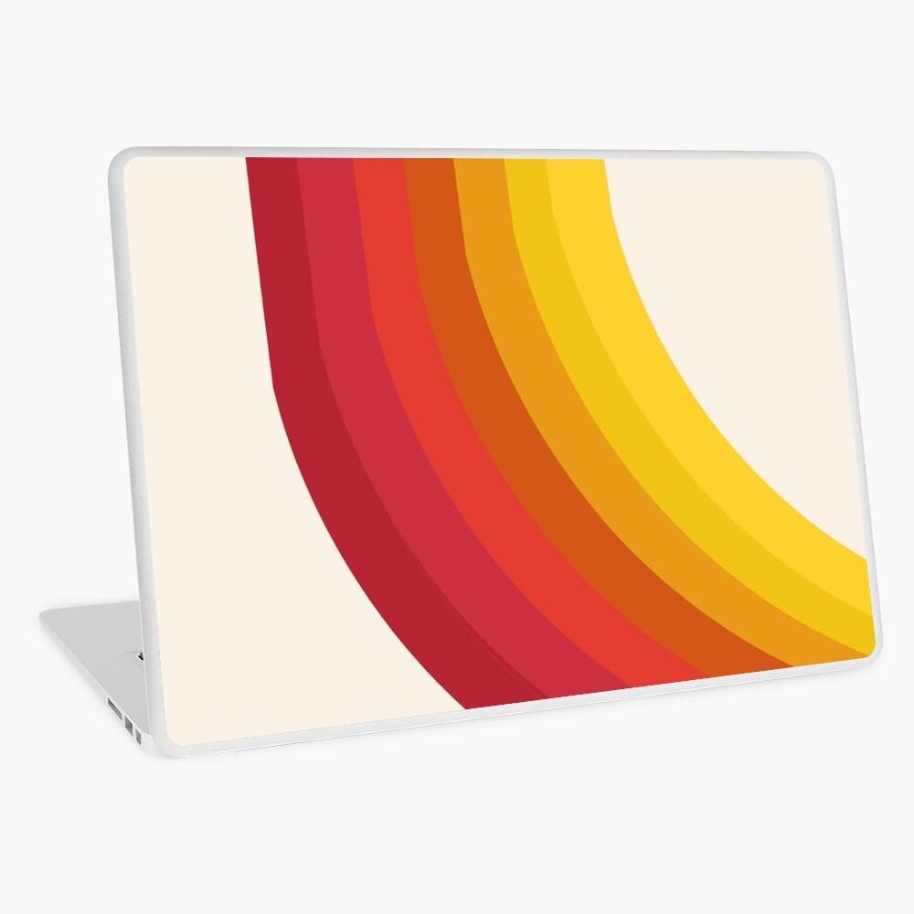 4-Sho - retro 70s style throwback vibes 1970's trendy decor art minimalist rainbow stripes Laptop Skin