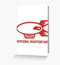 national aviation day Greeting Card