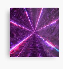 Purple Tunnel Metal Print