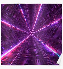 Purple Tunnel Poster