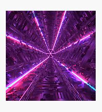 Purple Tunnel Photographic Print