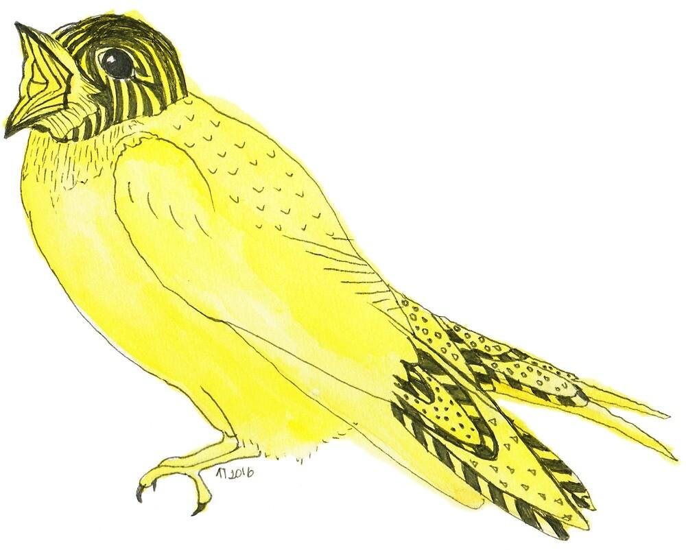 Yellow Soprano Swallow by Linda Ursin