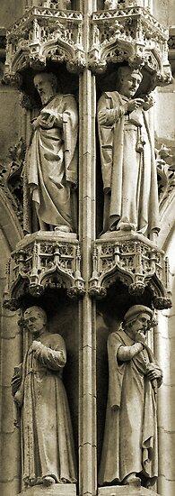 Town Hall: detail, Leuven, Belgium by Lenka