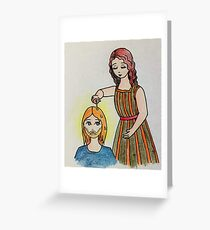 The anointing of Mary of Bethany Greeting Card