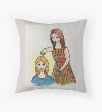 The anointing of Mary of Bethany Throw Pillow