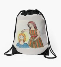 The anointing of Mary of Bethany Drawstring Bag