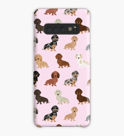 Dachshund dog breed pet pattern pet portrait doxie gifts Case/Skin for Samsung Galaxy