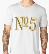 Golden, Number 5, 5, NUMBER 5, in Gold, FIFTH, FIVE, 5, Competition, TEAM SPORTS, Men's Premium T-Shirt