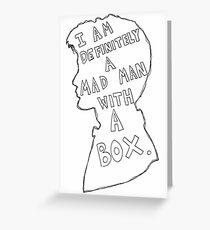 Matt Smith Silhouette Doctor Who Quote 2 Greeting Card