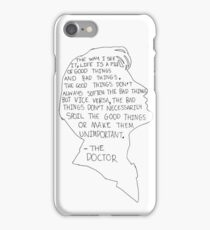 Matt Smith Silhouette Doctor Who Quote 3 iPhone Case/Skin