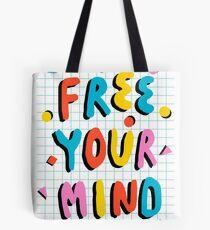 Hella' - retro 80's throwback vibes typography neon positivity  Tote Bag
