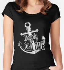 Deeply in Love T-Shirt Anchor Funny Novelty Cool Tees Women's Fitted Scoop T-Shirt