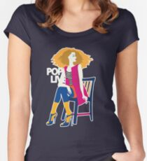 Stylish beautiful model for fashion design Women's Fitted Scoop T-Shirt