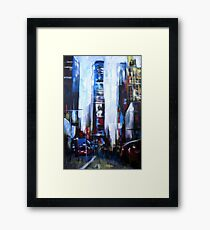 Times Square New York Abstract Realism Framed Print