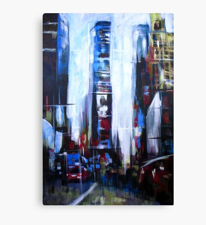 Times Square New York Abstract Realism Canvas Print