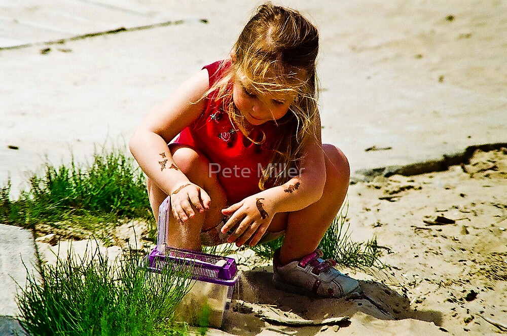 My Daughter, Delainey, at the Beach by Pete Miller