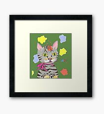 My Cat Portrait Framed Print