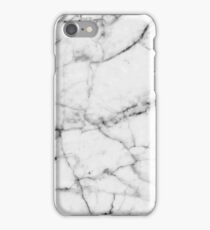 Pure White Real Marble Dark Grain All Over iPhone Case/Skin