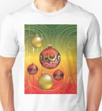 Red and Gold Christmas Balls 2 T-Shirt