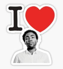 I Heart Donald Glover Sticker