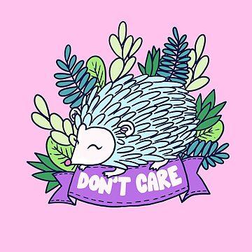 Don't Care Hedgehog by JenniferCharlee