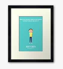 Minimalist Morty Smith Framed Print