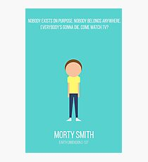 Minimalist Morty Smith Photographic Print