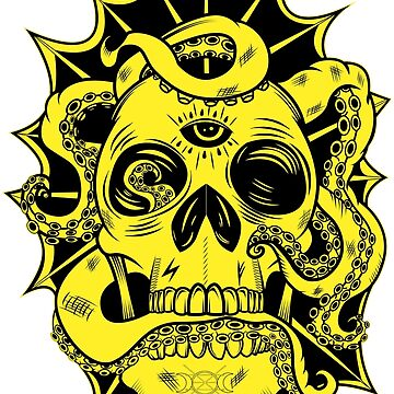 Tenta-Skull Black and Yellow by GrimCraft