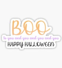 Mickey's Not So Scary Halloween Party- BOO Sticker