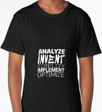 Anything working process slogan. Long T-Shirt