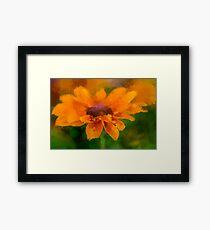 Expressive Sunflower Framed Print