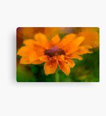 Expressive Sunflower Canvas Print