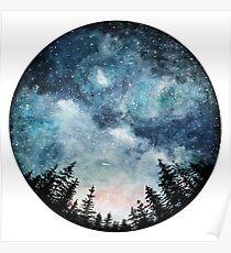 watercolor night sky Poster