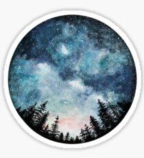 watercolor night sky Sticker