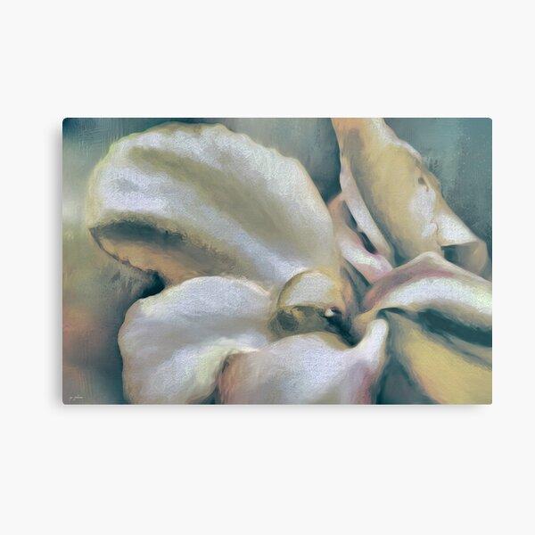Lily In The Garden Coastal Metal Print
