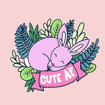 Cute AF Sleepy Bunny by JenniferCharlee