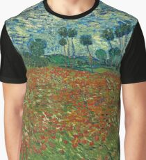 Vincent van Gogh - Poppy Field (1890)	 Graphic T-Shirt