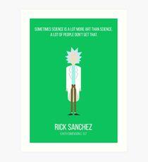 Minimalist Rick Sanchez Art Print