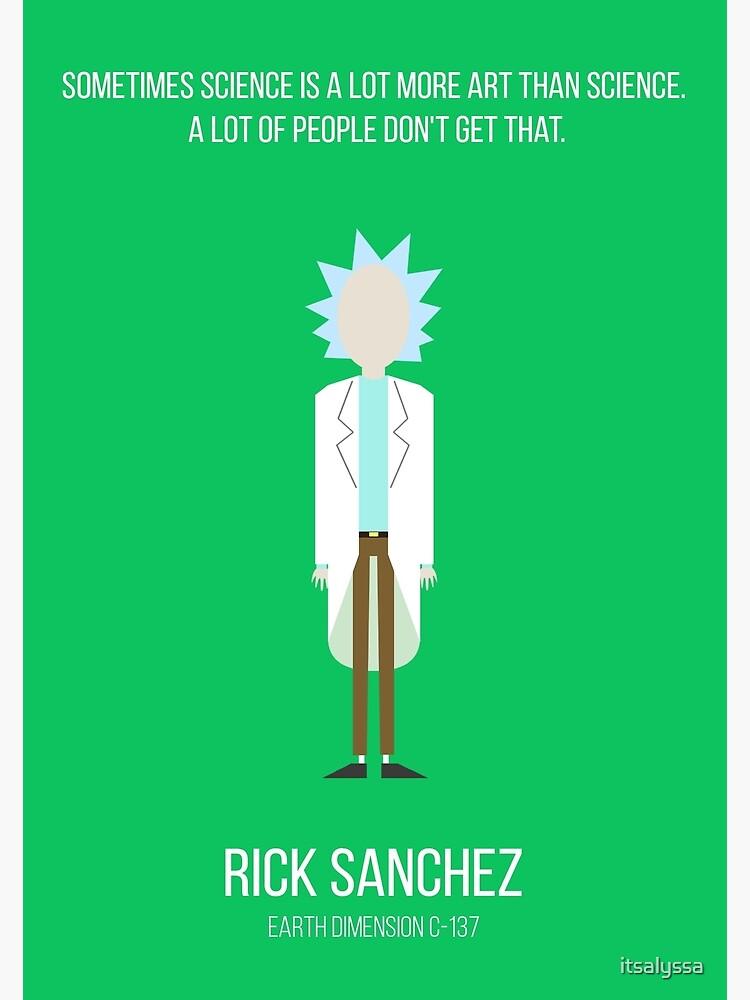 Minimalist Rick Sanchez by itsalyssa