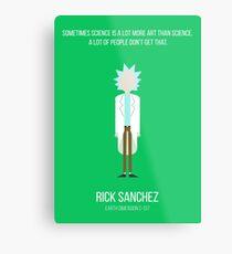 Minimalist Rick Sanchez Metal Print