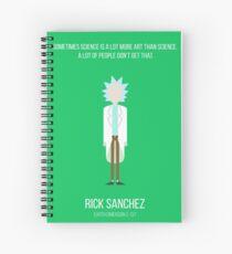 Minimalist Rick Sanchez Spiral Notebook