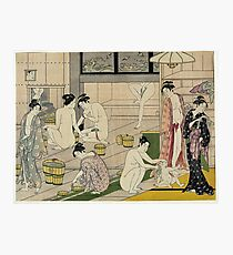 Kiyonaga bathhouse Photographic Print