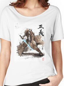 Jedi Knight from Star Wars with calligraphy Women's Relaxed Fit T-Shirt